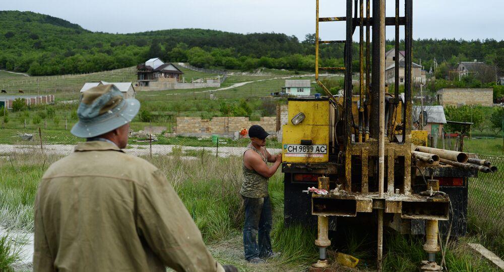 Forage hydraulique en Crimée