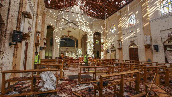 A view of St. Sebastian's Church damaged in blast in Negombo, north of Colombo, Sri Lanka, Sunday, April 21, 2019. - Sputnik France
