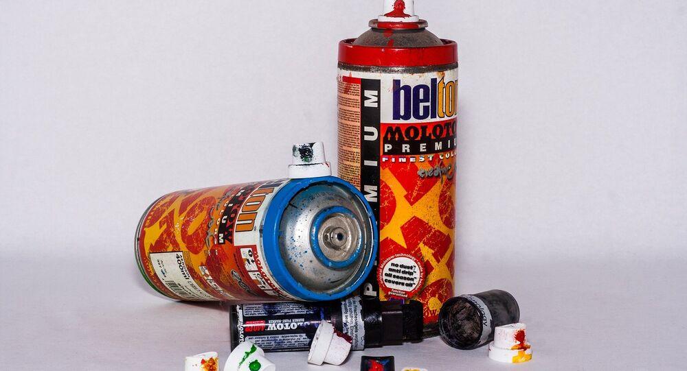 Bombes de peinture, image d'illustration
