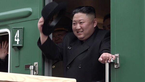 Kim Jong-un est arrivé en Russie à bord de son trai blindé - Sputnik France