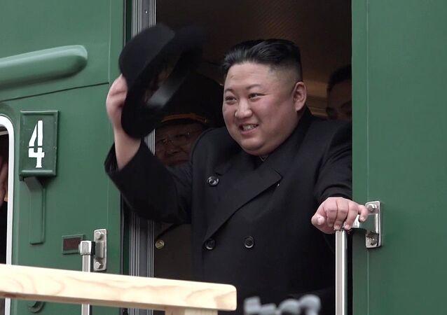 Kim Jong-un est arrivé en Russie à bord de son trai blindé