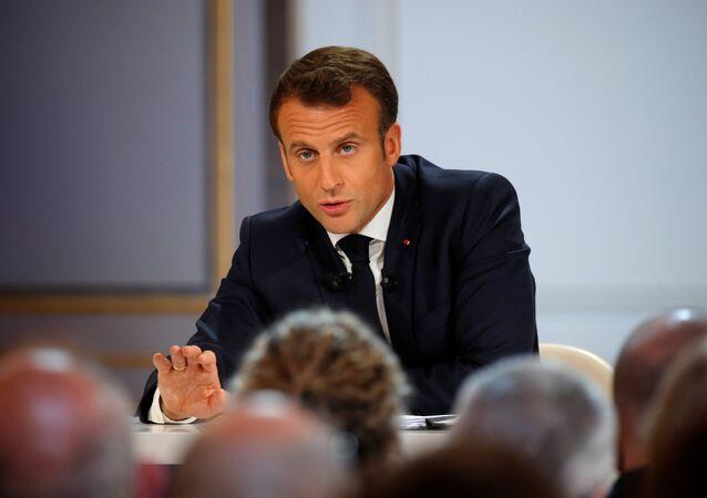 Emmanuel Macron donne une conférence de presse