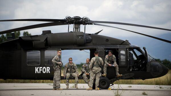 Soldats US, hélicoptère Black Hawk - Sputnik France