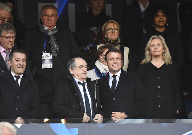 Emmanuel Macron au Stade de France