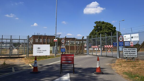 An entrance to Porton Down, the science park housing the Ministry of Defence's (MOD) Defence Science and Technology Laboratory - Sputnik France