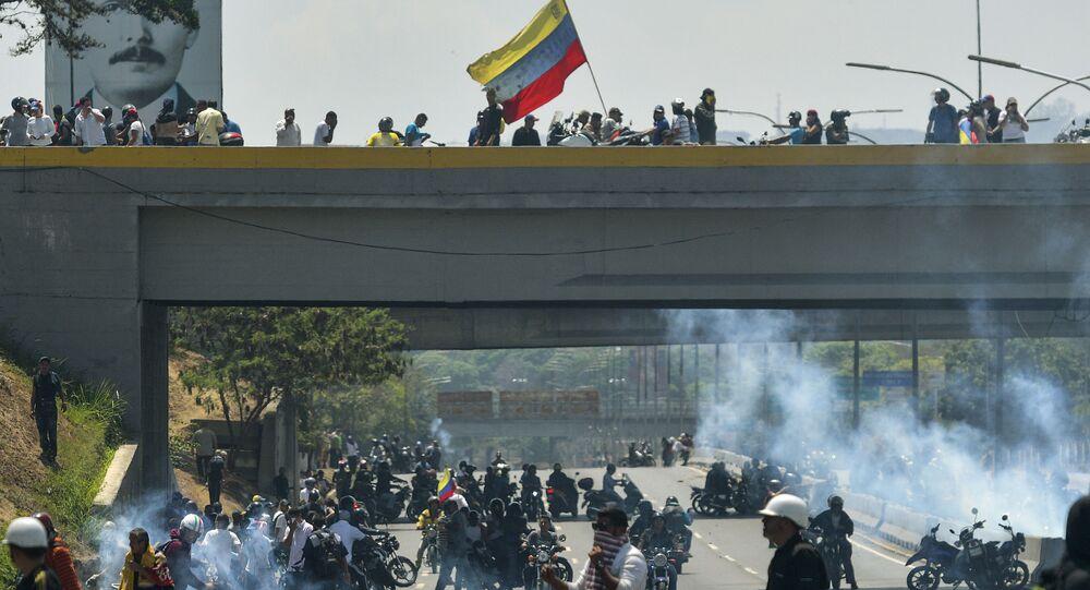 La base aérienne de La Carlota à Caracas au Venezuela le 30 avril 2019