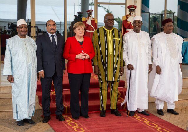 Angela Merkel en visite en Afrique