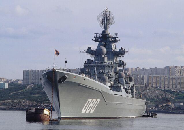 Le croiseur lance-missiles russe Amiral Nakhimov