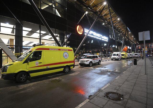 Médecins dans l'aéroport Cheremetievo