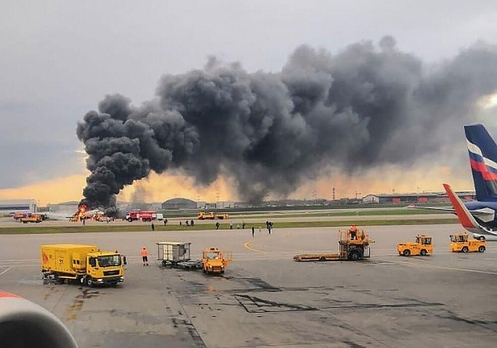 Incendie à bord d'un avion à l'aéroport de Chérémétiévo