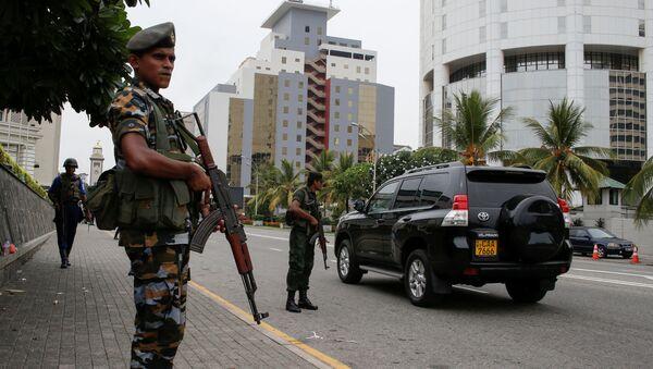 Военный патруль на улицах Коломбо, Шри-Ланка  - Sputnik France
