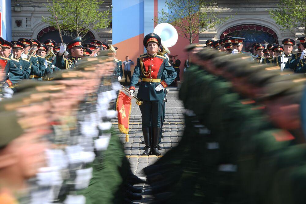 Répétition générale du défilé de la Victoire sur la place Rouge