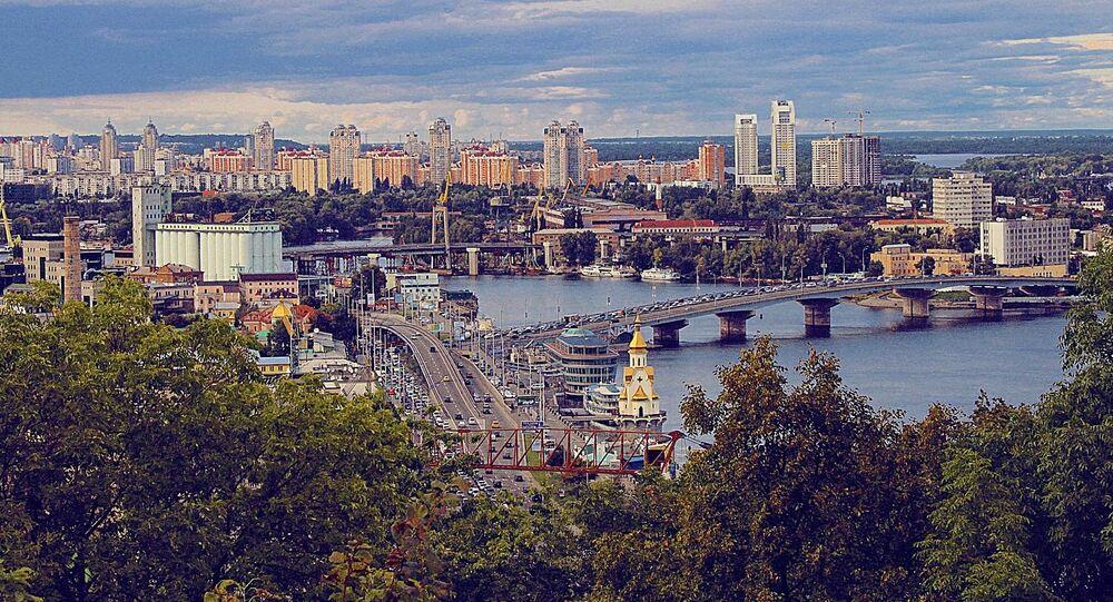Une vue panoramique sur Kiev, capitale ukrainienne