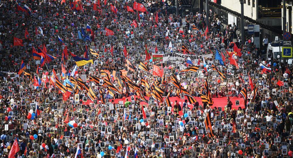 Régiment des immortels à Moscou (9 mai 2019)