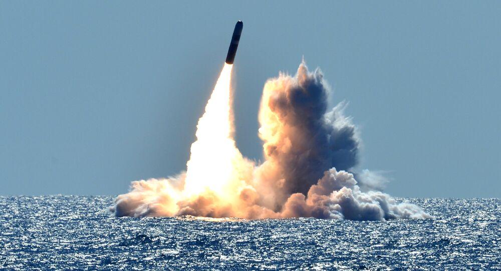 Tir d'un missile balistique américain Trident, photo d'archives