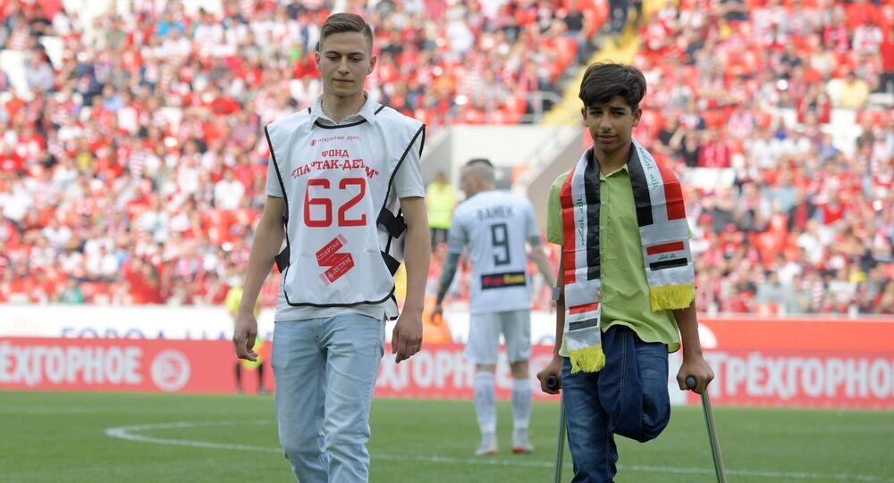 Qassim al-Qadim a assisté à un match de foot à Moscou