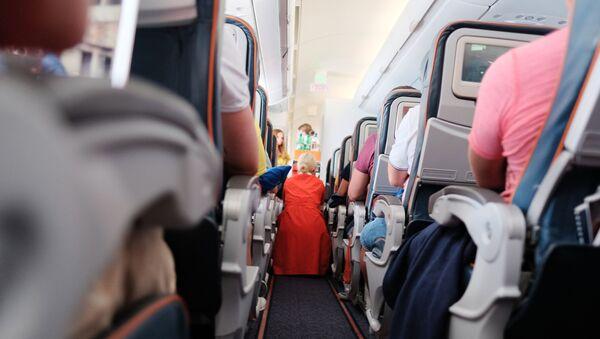 Les passagers d'un avion  - Sputnik France