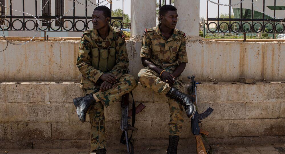 Des militaires soudanais