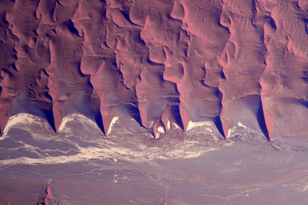 Paysage «martien» photographié depuis l'ISS