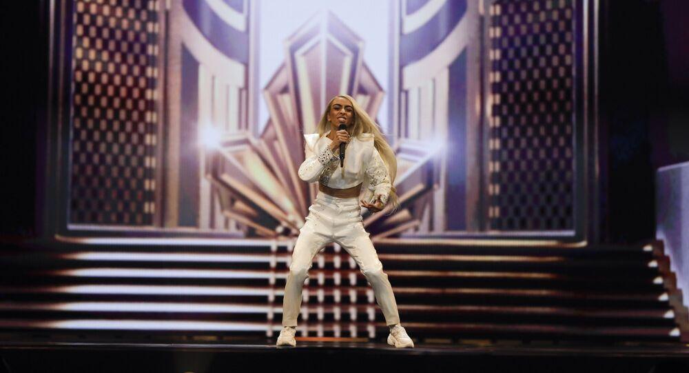 Bilal Hassani représentant la France lors de l'Eurovision 2019