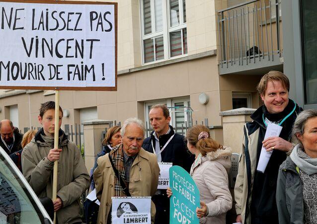 Manifestation en soutien de Vincent Lambert