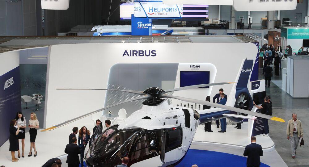 Un Airbus Helicopters H135 au salon Helirussia