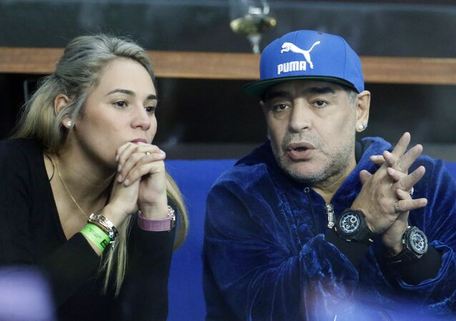 Diego Maradona et Rocio Oliva (photo d'archives)
