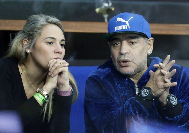 Diego Maradona et Rocio Oliva (photo d'archives)