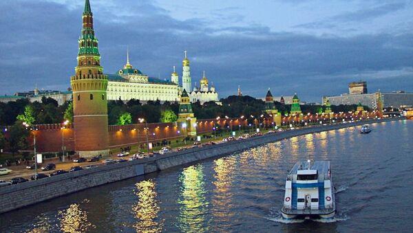 Вид на Москва-реку и Кремль вечером, 2003 - Sputnik France