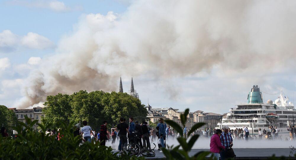 Un incendie dans le centre de Bordeaux (25 mai 2019)