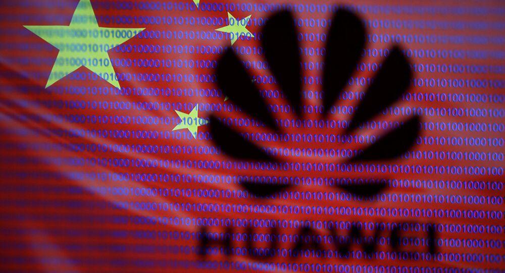 Huawei, drapeau chinois
