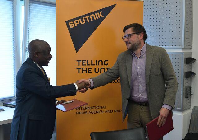 Sputnik a conclu un accord de coopération avec la Radio-Télévision nationale congolaise