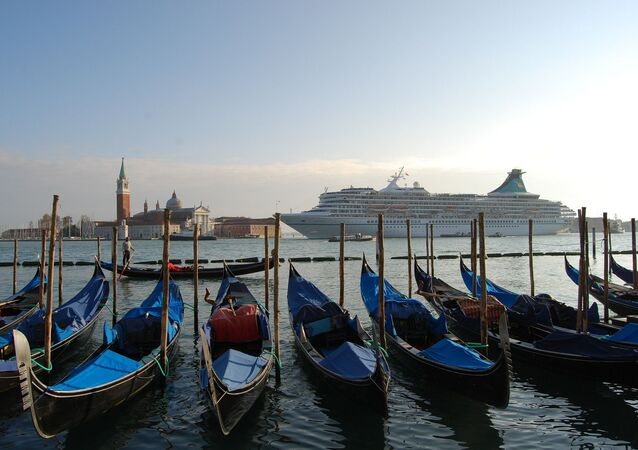 Venice and a cruise ship