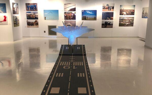 Une exposition de photos consacrées à l'aviation et avant le Salon international aérospatial de Moscou MAKS - Sputnik France