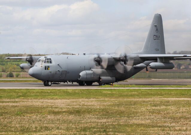 Un EC-130H Compass Call de l'US Air Force