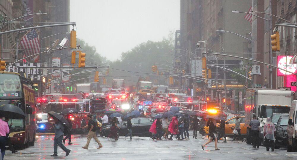 Manhattan après le crash d'un hélicoptère sur le toit d'un gratte-ciel (10 juin 2019)