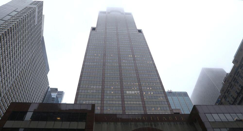 L'immeuble situé au 787, 7e avenue à Manhattan, où s'est écrasé un hélicoptère (10 juin 2019)