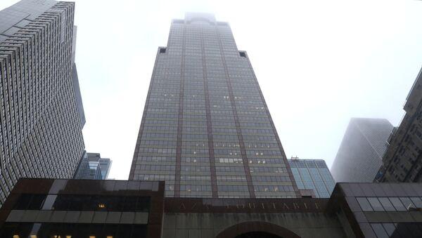 L'immeuble situé au 787, 7e avenue à Manhattan, où s'est écrasé un hélicoptère (10 juin 2019) - Sputnik France