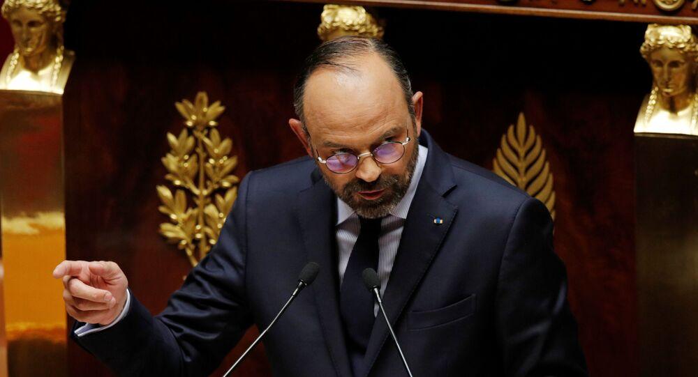Edouard Philippe pronoce sa déclaration de politique générale devant l'Assemblée nationale