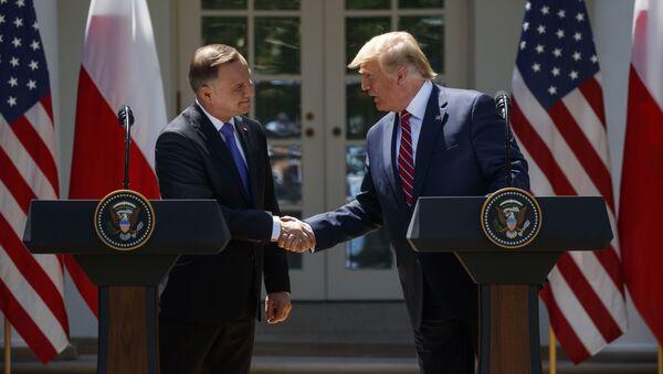 Andrzej Duda et Donald Trump - Sputnik France