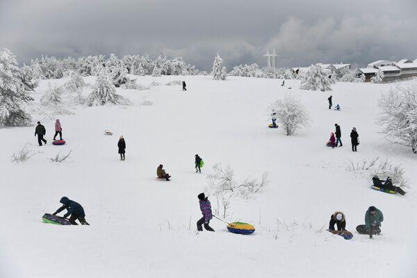 Jour d'hiver chômé du photographe russe Alexeï Malgavko, finaliste dans la catégorie Ma planète, photo unique. - Sputnik France
