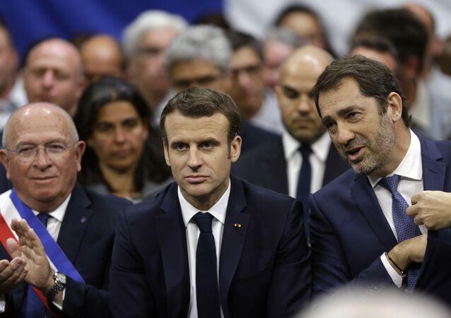 Emmanuel Macron et Christophe Castaner