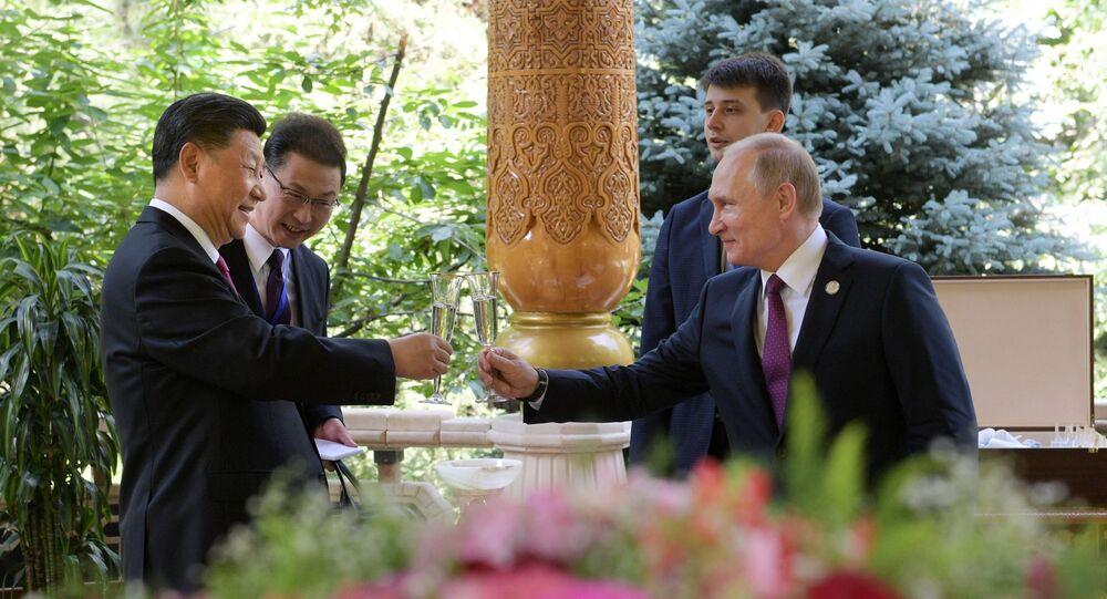 Vladimir Poutine et Xi Jinping à Douchanbé