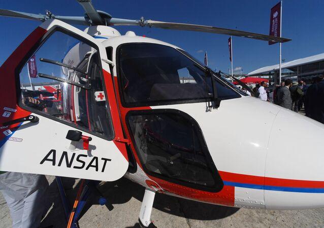 L'hélicoptère russe au Salon International de l'Aéronautique et de l'Espace au Bourget