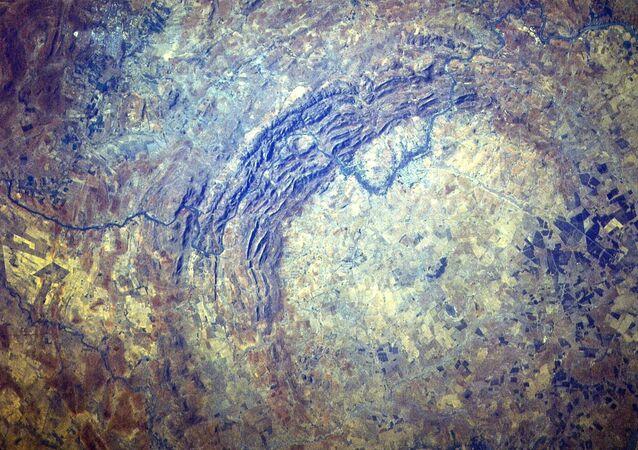 Dôme de Vredefort. Image satellitaire