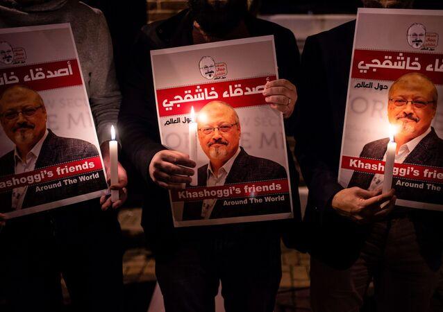 portraits du journaliste Jamal Khashoggi