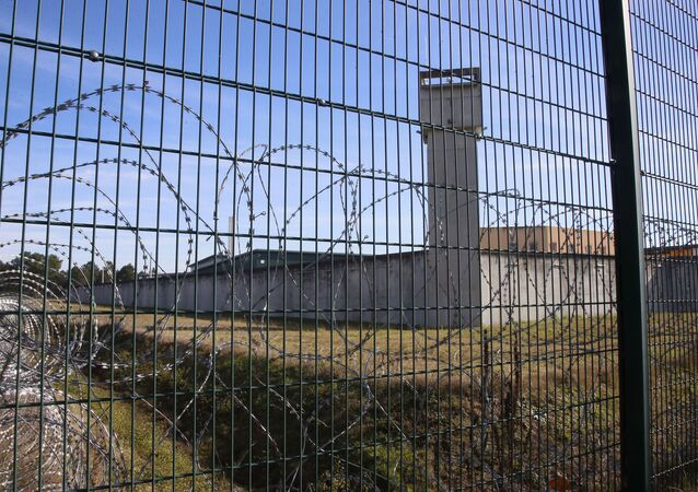 View of the prison of Mont de Marsan, southwestern France, Thursday, Nov.16, 2017. (AP Photo/Bob Edme)