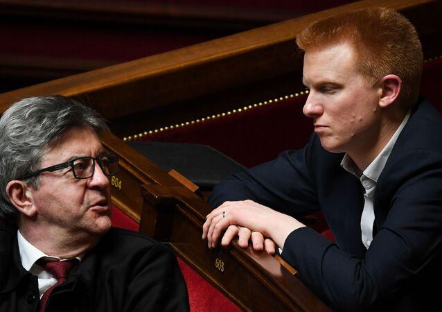 Adrien Quatennens et Jean-Luc Mélenchon