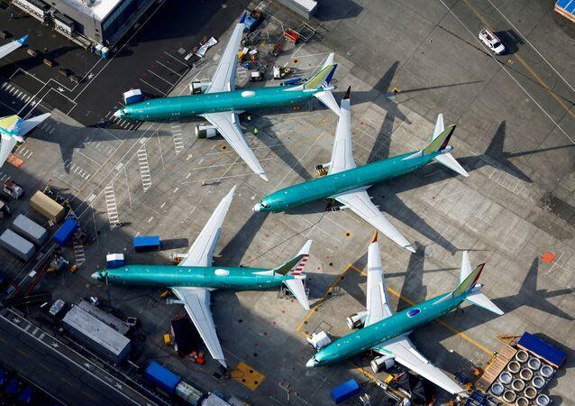 Des avions Boeing 737 MAX à l'aéroport Renton aux Etats-Unis, le 21 mars 2019