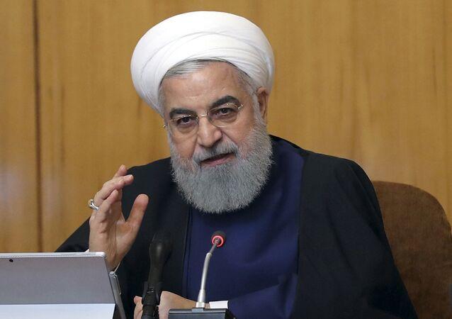 Hassan Rohani le 8 mai 2019 à Téhéran